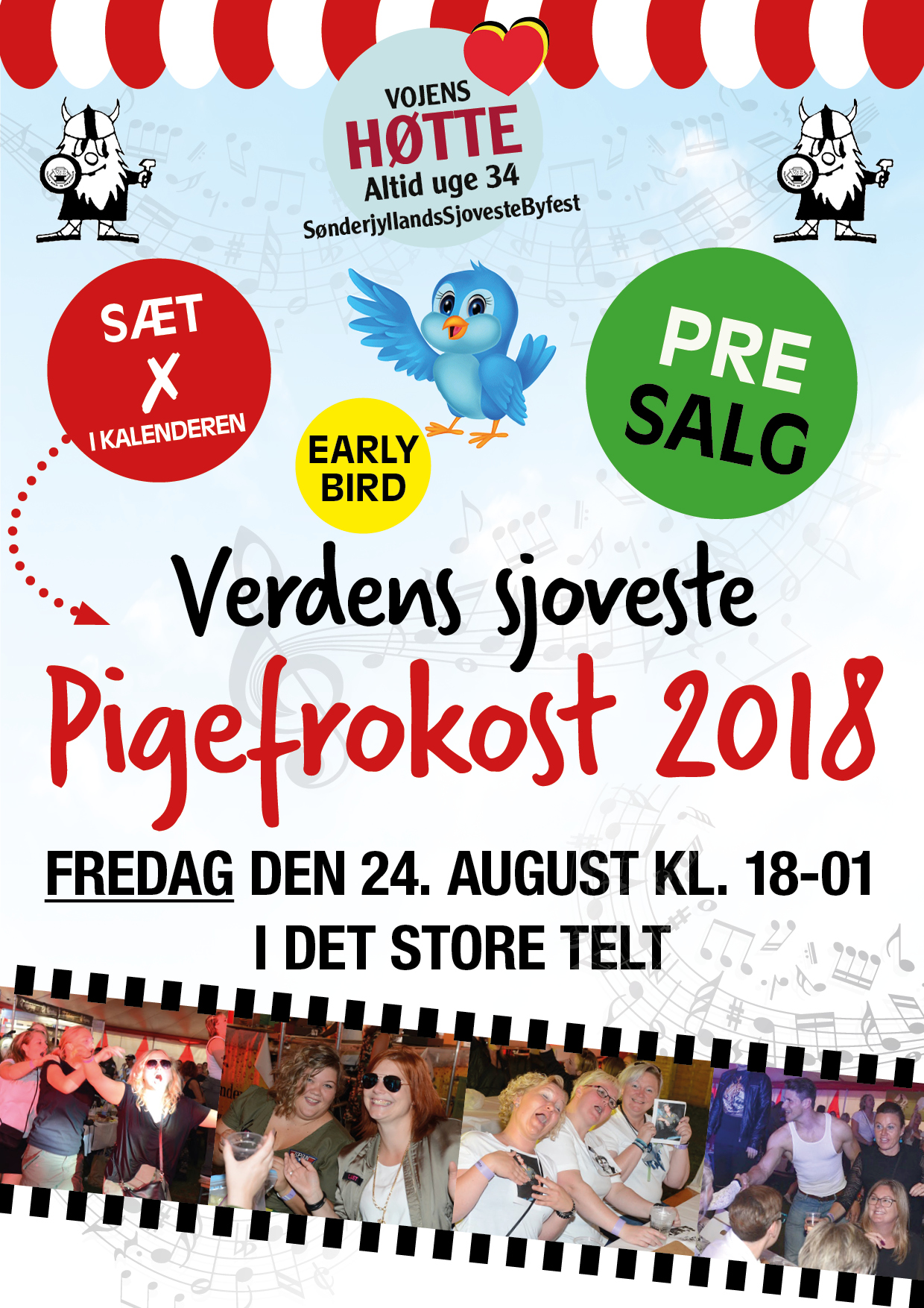 pigefrokost early bird fredag